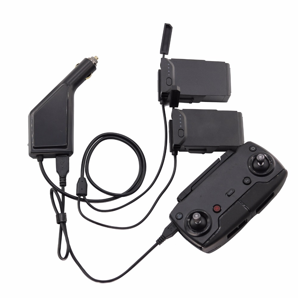 3-in-1 Mavic Air Car Charger Accessories Remote Control &2 Pcs Battery Charger for DJI Mavic Air transmitter Controller Charger 3 in 1 mavic air car charger accessories remote control charger for dji mavic air transmitter controller charger
