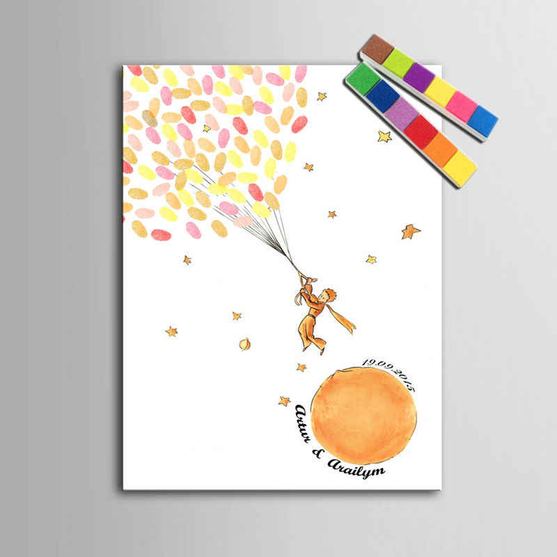 Personalized wedding guest book  baby shower fingerprint wish tree first communion souvenir signature guestbook decoration gifts