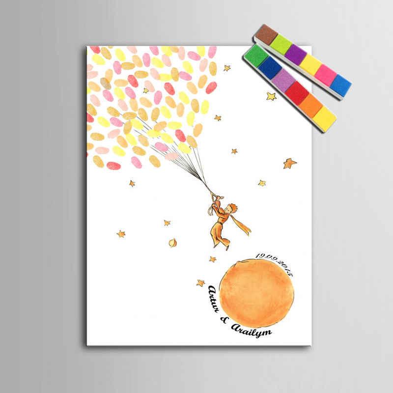 Personnalisé mariage livre d'or bébé douche empreinte digitale arbre première communion souvenir signature livre d'or toile peinture affiche