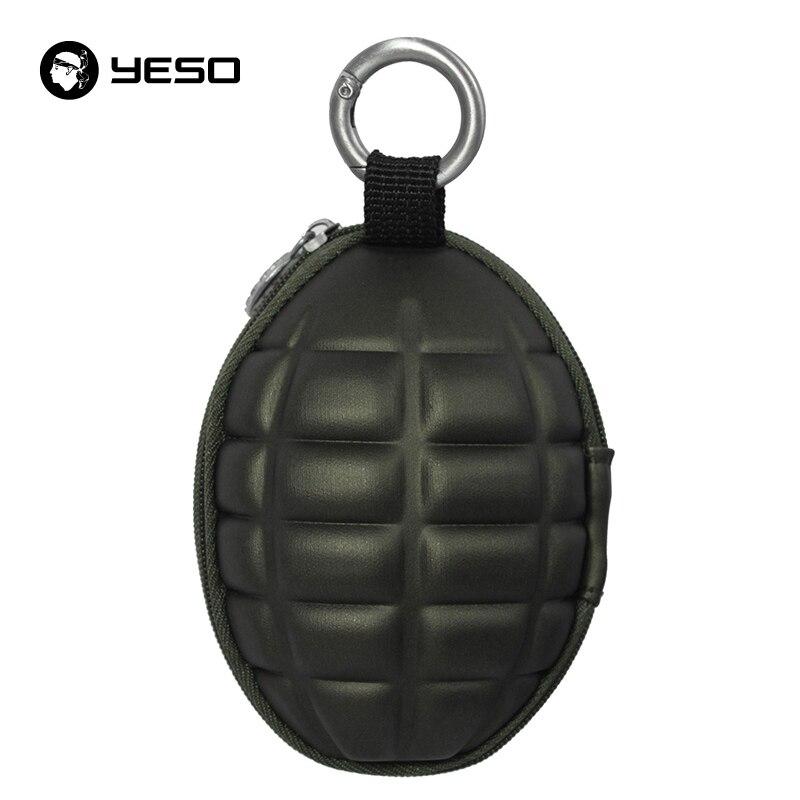 YESO New Arrival PU Men's Key Holder Wallets Unisex Oval Headphone Case Bag Housekeeper For Keys Organizer Purse For Car Key Bag