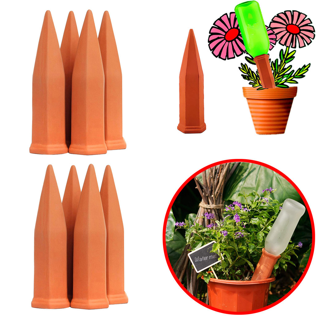Automatic Water Stakes Ceramic Plastic Plant Potted Garden Self Watering Tool