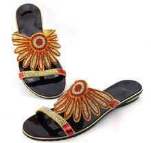 Freies Verschiffen Top Qualität afrikanischen Sandalen für Party, Mode-Stil Damen Schuhe mit Strass!!!! DD1-53