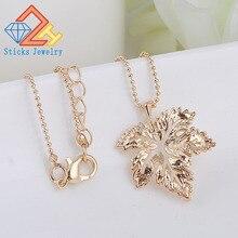 Charm Necklace European American Fashion Jewelry Wholesale Beautiful Maple Leaf Plants Choker