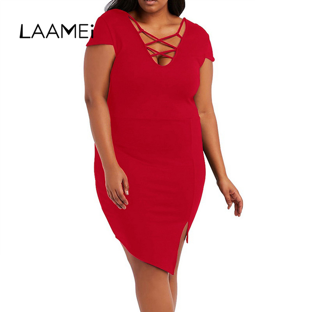 Laamei 2018 Bandage Dress Plus Size Summer New Party Club Dresses