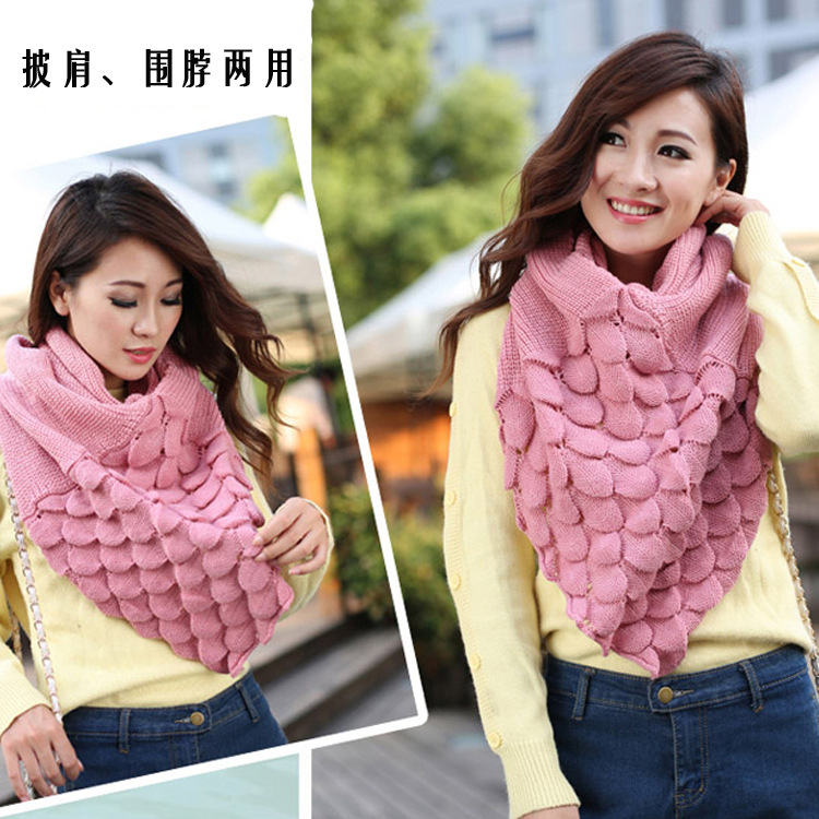 Trends Brand Ladies Scarves Solid Color Scarf Ms. Spanish Style Autumn and Winter Novel Thermal Scarf Bandana for Christmas Gife