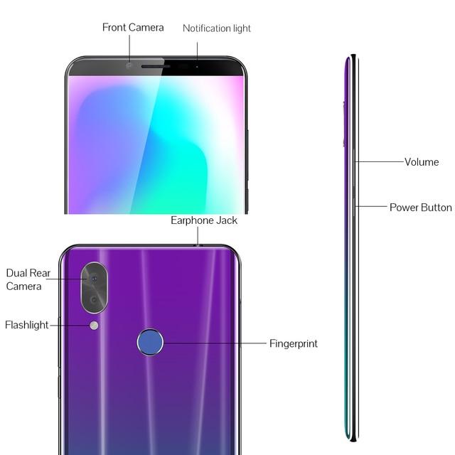 "Cubot X19 Smartphone Helio P23 Octa-Core 5.93"" 2160*1080 FHD+ Display 4000mAh 4GB+64GB Face ID Type-C Twilight Gradient Color 5"