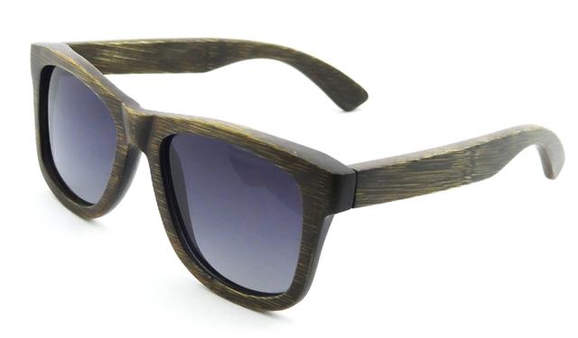 Alta Calidad Tan Real Polarizadas gafas de Sol De Bambú de Madera Gafas de Sol de La Vendimia Diseñador de la Marca gafas de Sol Gafas de Sol Masculino 6050