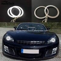 HochiTech BEYAZ 6000 K CCFL Far Halo Melek Demon Eyes Kiti melek gözler ışık Opel GT Roadster 2007 2008 2009 için 2010