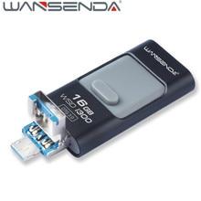 Wansenda-i300 3.0 usb flash drive for iPhone7/6/5/iPad/Android phones 16g OTG pen drive lightning pendrive Usb stick flash drive