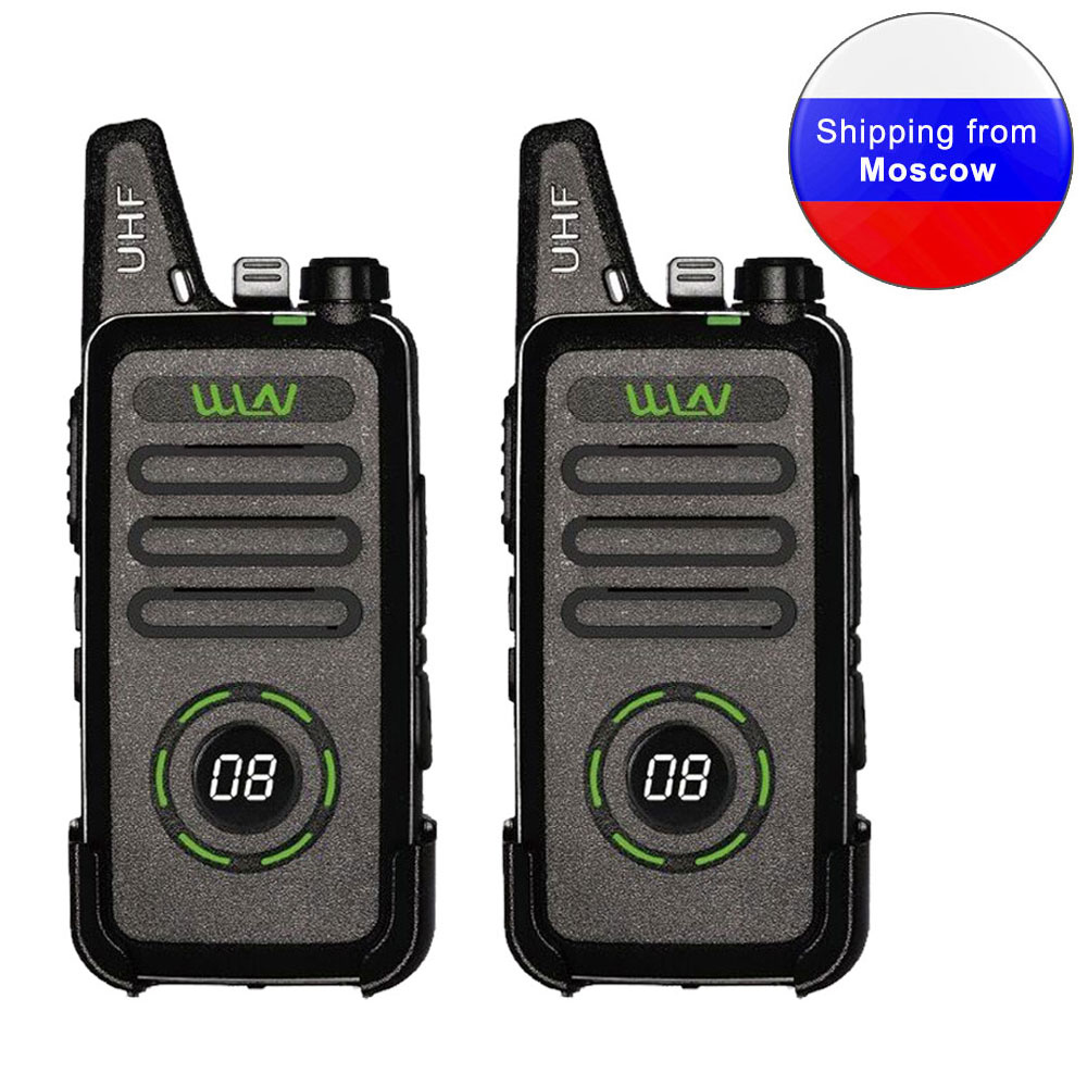 2PCS New WLN KD-C1plus Mini Walkie Talkie KD-C1 Plus UHF 400-520MHz Slim Transceiver Two Way Radio KD-C1 Upgraded