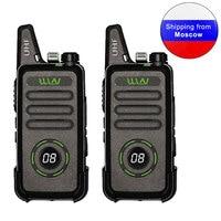 2PCS New WLN KD C1plus mini Walkie Talkie KD C1 plus UHF 400 520MHz slim transceiver two way radio KD C1 Upgraded