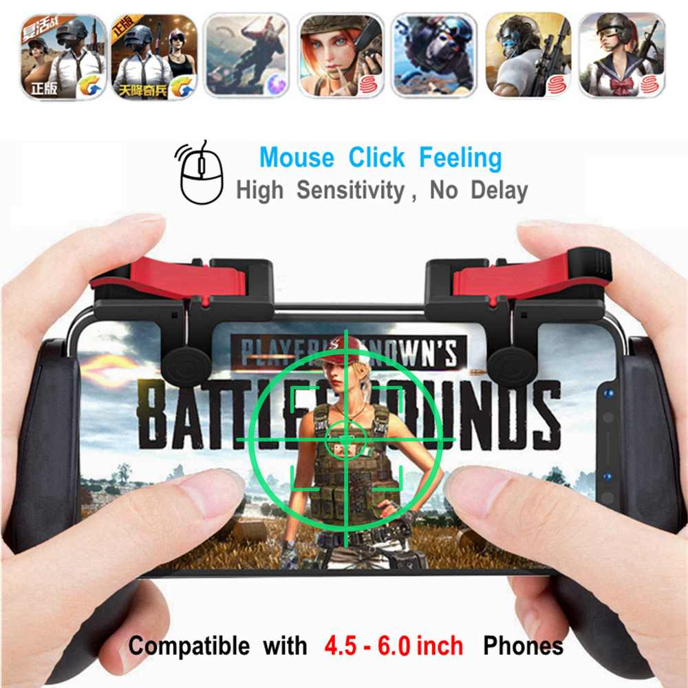 Free Fire PUBG Mobile L1R1 Triggers Gamepad for iPhone Andro