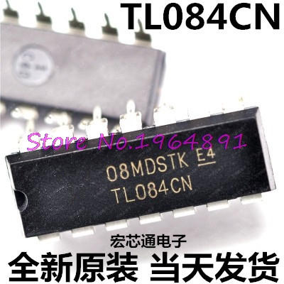 10pcs/lot TL084CN TL084 DIP-14 In Stock