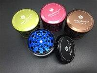 Pembe/Yeşil/Siyah/Kahverengi Renkli 63mm 4 adet SharpStone Sürüm 2.0 herb öğütücü Alüminyum Metal Tütün sigara ot el değirmeni