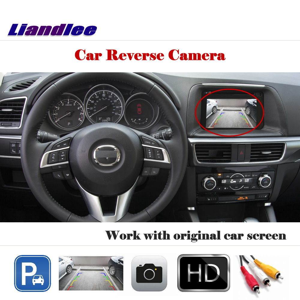 Liandlee Auto Reverse Parking Camera For Mazda CX-5 CX5 2015-2017 / Rear Rearview Camera Back Work with Car Factory ScreenLiandlee Auto Reverse Parking Camera For Mazda CX-5 CX5 2015-2017 / Rear Rearview Camera Back Work with Car Factory Screen