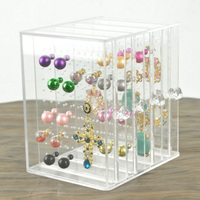 Mordoa Acrylic High Quality Earring Jewelry Storage Box Pendant Locket Jewellery Stand Case Free Shipping