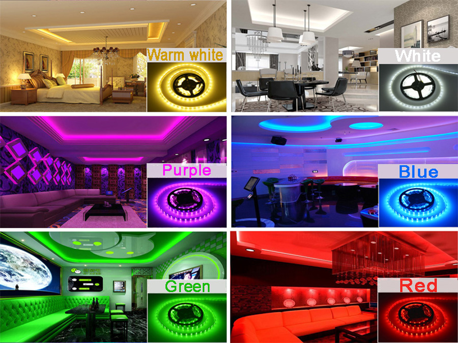 5 meter 300Leds Non-waterproof RGB Led Strip Light 2835 DC12V 60LedsM Flexible Lighting String Ribbon Tape Lamp Home Decoration (9)