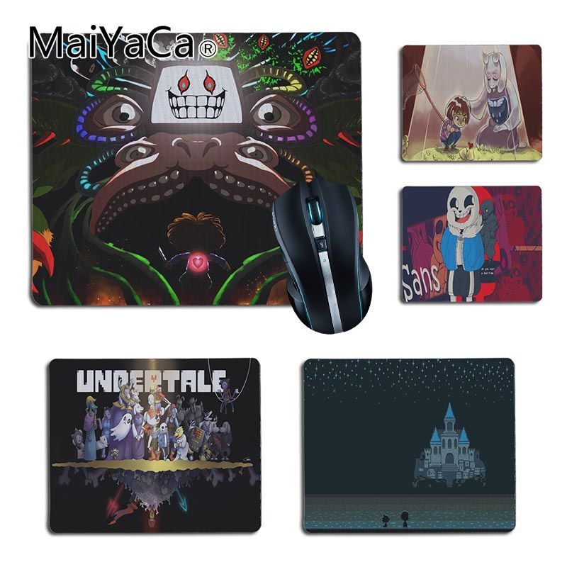 MaiYaCa Undertale Customized laptop Gaming small mouse pad Size 25x29cm 18x22cm Rubber Mousemats