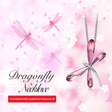 Women Necklace Pendant Dragonfly Insect Embellished With Crystals from Swarovski