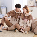 Elephant autumn and winter couple pajamas coral velvet thicker lovely cartoon winter men and women home Flannel