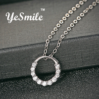 YeSmile Round Flower Baskets Pendant Cubic Zirconia Necklaces 925 Sterling Silver Jewelry Fashion Trendy Gifts 2017