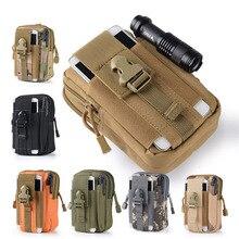 Военная поясная Сумка Molle Camo, водонепроницаемая нейлоновая многофункциональная Повседневная Мужская поясная сумка, Мужская маленькая сумка, мобильный чехол для телефона