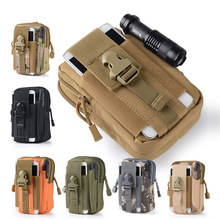 Luggage Bags - Waist Packs - Army Military Molle Waist Pack Camouflage Oxford Nylon 800D Waterproof Multifunctional Travel Adventure Men Soldier's Small Bag