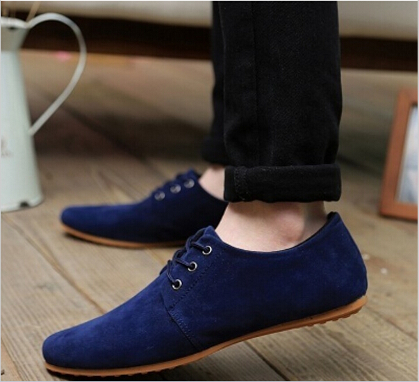 Hot Sale!!! 2016 Autumn Fashion Men shoes Casual Shoes Lace-up Low Breathable Suede Classic Casual Mens flats