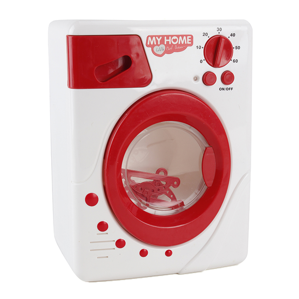 Mini Home Appliance Room/Kitchen Furniture Kids/Baby Pretend Play Toy Educational - Washing Machine Red