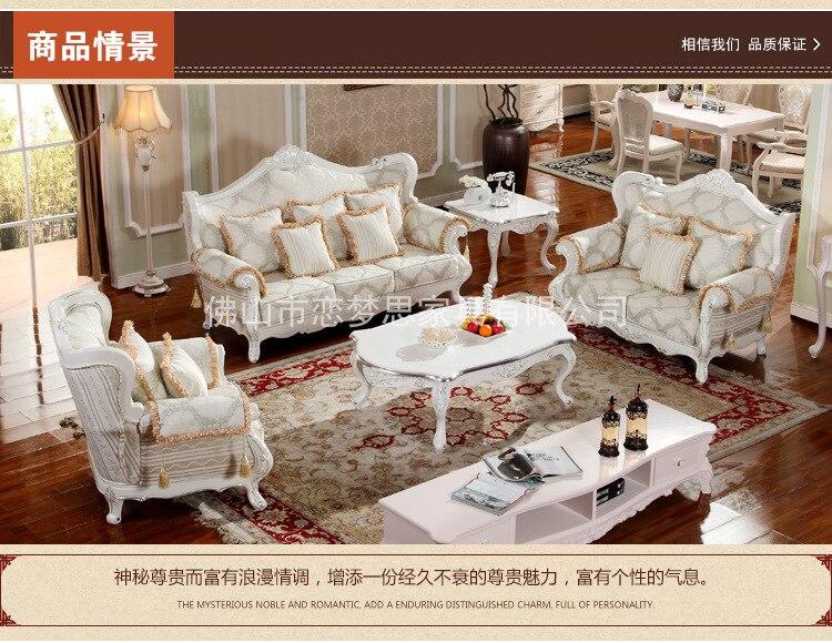 € 780.47 |Date en gros Europe style classique villa salon canapé ensembles  chêne bois sculpture L40-in Canapés salle de séjour from Meubles on ...