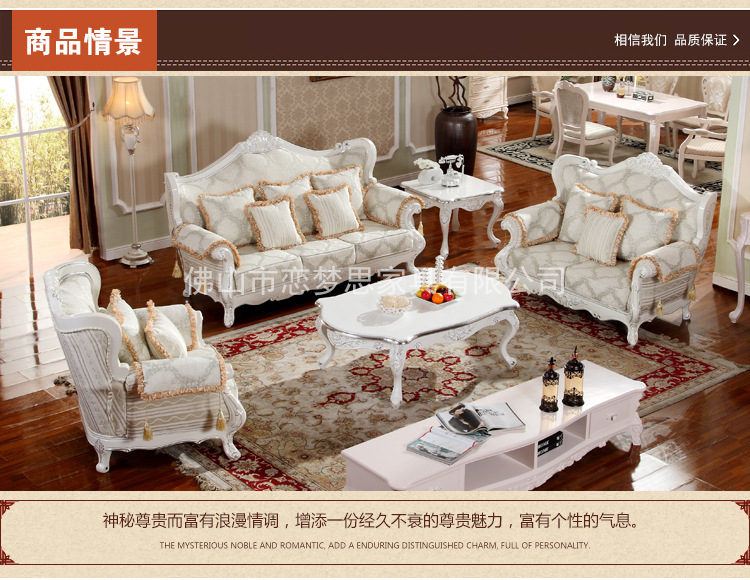 US $850.0 |Newest Wholesale Europe classic style villa living room sofa  sets oak wood carving L40-in Living Room Sofas from Furniture on ...