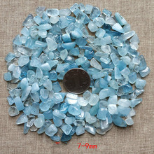 50g natural sea blue gravel crystal particles fish tank flowerpot landscaping natur stones and crystals semiprecious stones natural rose oil painting flower carving jewelry diy natur stones and crystals