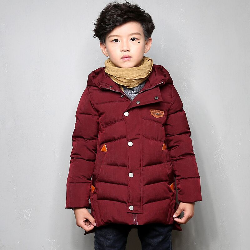Sun Moon Kids Boys Winter Coat Casual Style 4-14 Years Warm Solid Hooded Jacket For Boys Cotton Long Sleeve Baby Kids Coat sun moon kids boys t shirt summer