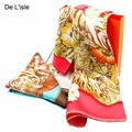 Fashion Design Silk Scarves Fashion Floral Tiger Printed Shawls Hot Sale Women Genuine Scarf Shawl