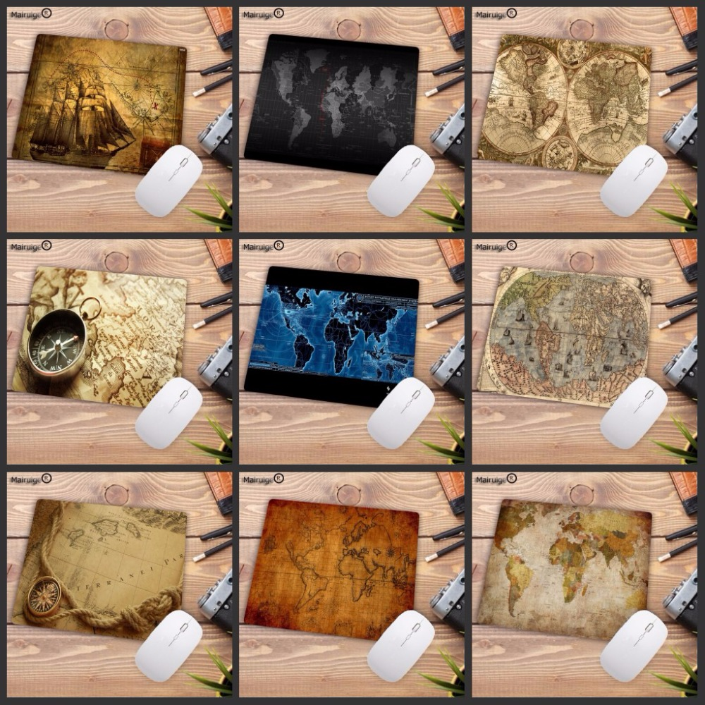 Mairuige Old World Map Speed mouse pad 2018 new 18X22CM pad to mouse notbook computer mousepad gaming mouse mats to mouse gamer