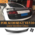 R8 Carbon Fiber Rear Trunk Wing Spoiler for Audi R8 GT V8 V10 2008 2009 2010 2011 2012 2013 2014 Car Tail Lip Wing Spoiler