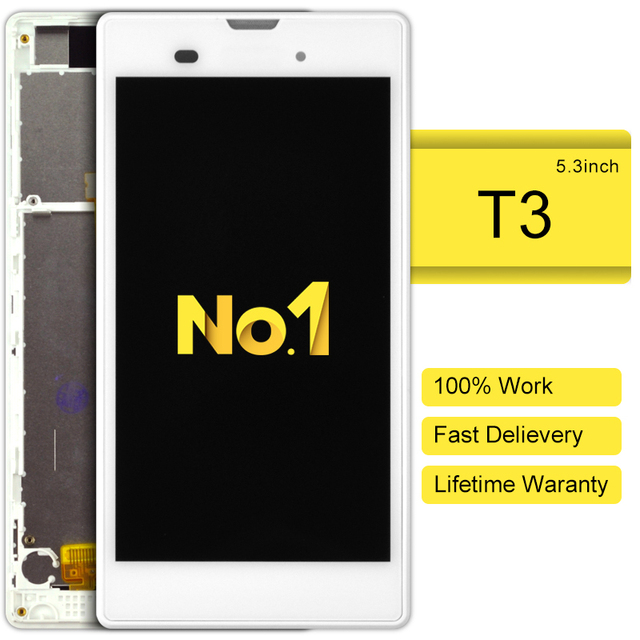 5 stks alibaba china highscreen clone Lcd Voor Sony Xperia T3 M50w Scherm Met Frame Freeshipping Speciale Aanbieding Real