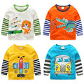 Baby spell sleeve T-shirt 2017 new spring boy kids children long sleeved turtleneck Jacket - tx-7961