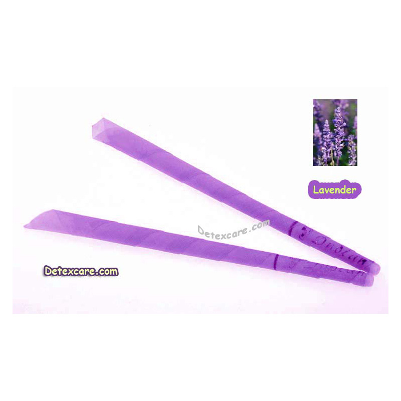 408 PCS/LOT lavender trumpet beewax ear candle,ear cone,ear wax candle,pesticide free,no burning smoke,with protective disc+CE