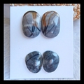 SALE 2Pairs Fashion Natural Picasso Jasper Cabochons,18*9*4mm,22*15*5mm,11.0g,beautiful fashion stone jewelry accessories