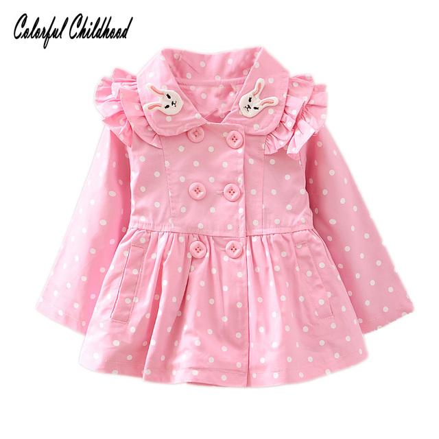 15ede2c62 Baby Coat Toddler Girl Clothing Spring Outing Outwear Active Cute ...