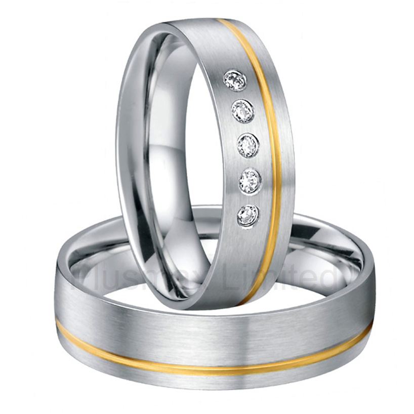 surgical stainless steel wedding band love couples ring set pair cheap jewelry online handmade comfort fit - Cheap Wedding Rings Online
