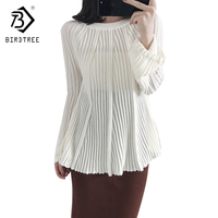 Pleated Lantern Sleeves Women Sweaters 2017 Autumn Korean Fashion Newly Knitwear Long Sleeves Casual Pullovers Hot
