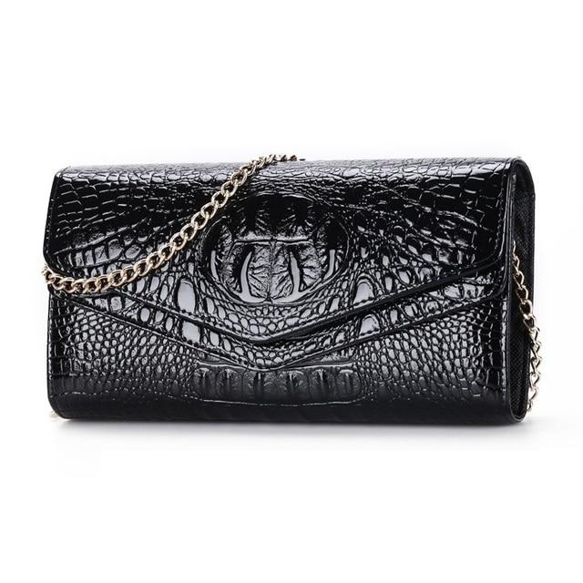 Fashion crocodile Woman evening bags Alligator women clutch bag Ladies luxury Clutches Chain Women's Shoulder bag bolsas wallet