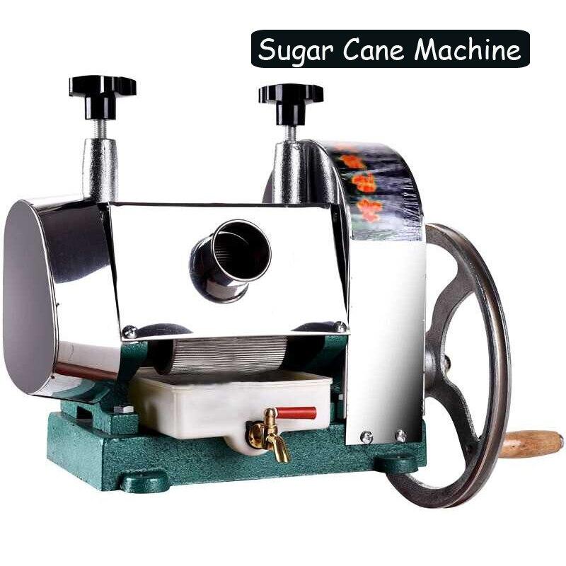 Manual de cana de açúcar comercial Aço Inoxidável máquina De sumos de Cana Separação escória e Manual de suco de imprensa de Cana de regulação da pressão