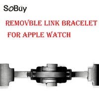 Lxsmart For Apple Watch Band 42mm 38mm Butterfly Clasp Stainless Steel Link Bracelet Strap For Iwatch