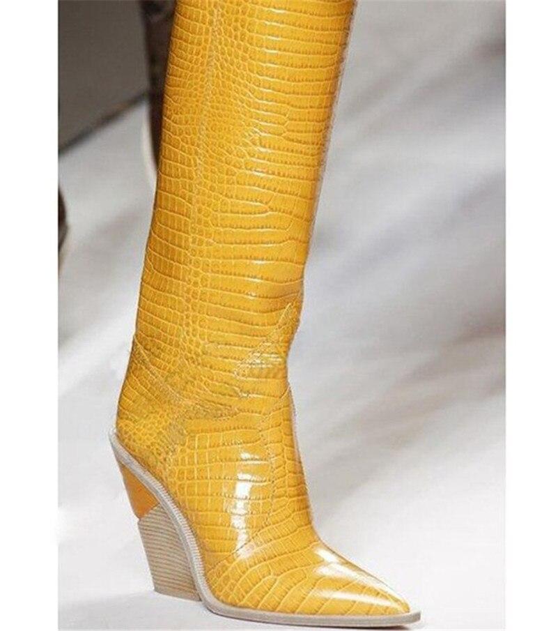 Relieve azul Beige Mujeres De En Vaquero Microfibra Rodilla Tacón Sexy Botas Las Mujer Y Grueso Zapatos Cuero Altas Occidental Alto amarillo rosado marrón Fedonas negro 1HqnExw