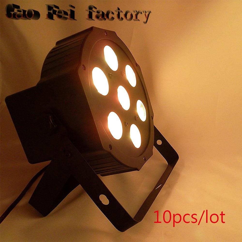 10 шт./коробка 7*12 Вт RGBW 4in1 открытый <font><b>LED</b></font> PAR банок с подсветкой <font><b>7&#215;12</b></font> DMX <font><b>led</b></font> par Сценическое освещение