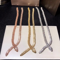 Лидирующий бренд чистый 925 пробы Серебряные ювелирные изделия для Для женщин Змея Подвески тонкий Цепочки и ожерелья Luxcy Цепочки и ожерелья