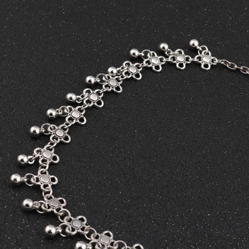 Tenande Vintage czeski tatuaż łańcuszek do obojczyka naszyjniki koraliki kwiaty Tassel naszyjniki dla kobiet urok biżuterii prezenty